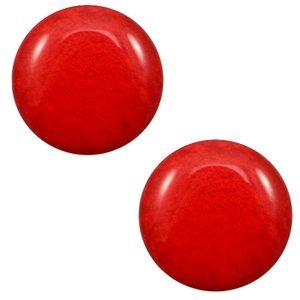 Rood Polaris cabochon Mosso shiny Candy red 7mm