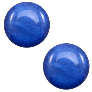 Blauw Polaris cabochon Mosso shiny Cobalt blue 7mm