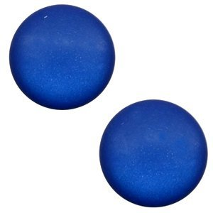 Blauw Polaris cabochon matt Cobalt blue 7mm