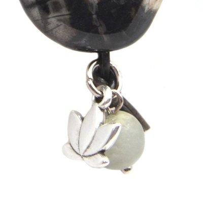Bruin Edelsteen hanger DIY Beige zwart grijs