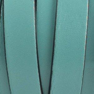 Turquoise Plat Italian leer Turquoise groen 10x2mm - prijs per cm
