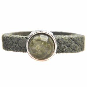 Groen Ring Reptile leer & polaris DIY olive green