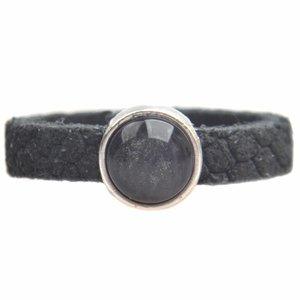 Grijs Ring Reptile leer & polaris DIY dark grey