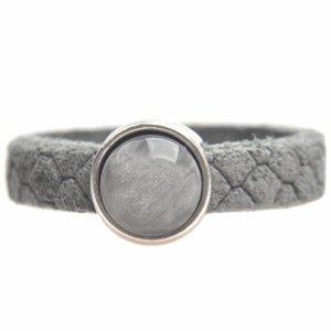 Grijs Ring Reptile leer & polaris DIY light grey