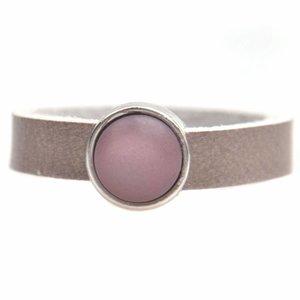 Paars Ring Plat leer & polaris DIY dust purple