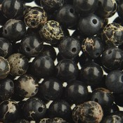 Zwart Edelsteen kraal Regaliet zwart rond 6mm - 10 stuks