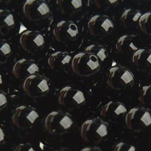 Zwart Edelsteen kraal Agaat zwart rond 6mm - 10 stuks