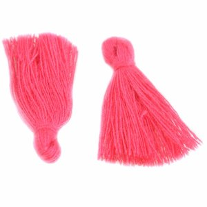 Roze Kwastje ±25mm Hot Pink