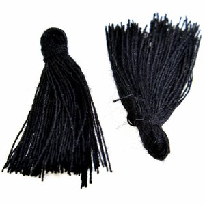 Zwart Kwastje ±25mm Black