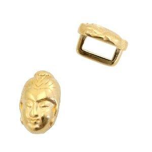 Goud Leerschuiver metaal Buddha Ø5x2mm Goud DQ