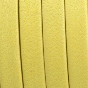 Geel Plat nappa Leer Geel 5x1.5mm - prijs per cm