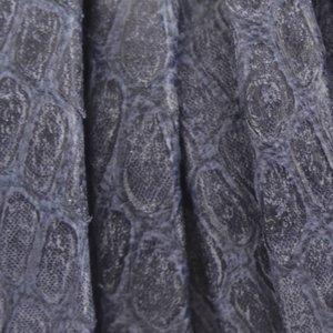 Blauw Plat nappa Leer Luxe Reptile Dark Navy 5x1.5mm - prijs per cm