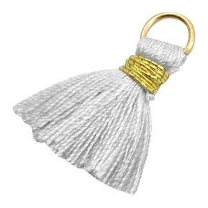 Grijs Ibiza kwastje Gold-light grey 20mm