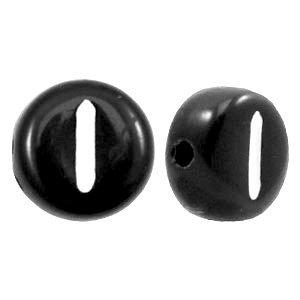 Zwart Letterkraal acryl letter I zwart 7mm - 10 stuks