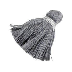 Grijs Ibiza kwast Zilver-anthracite grey 3,6cm