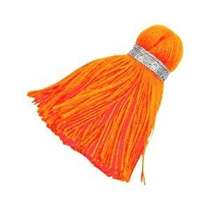 Oranje Ibiza kwast Zilver-bright neon orange 3,6cm