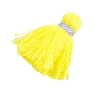 Geel Ibiza kwast Zilver-yellow 3,6cm