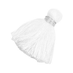 Wit Ibiza kwast Zilver-white 3,6cm
