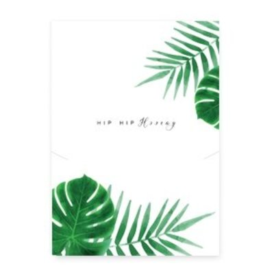 "Groen Sieraden kaartjes ""Hip hip hooray"" White-green"
