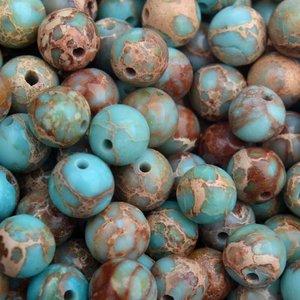 Turquoise Edelsteen regaliet jasper kraal licht turquoise rond 8mm