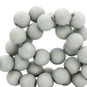 Grijs Acryl kralen mat Mineral grey 8mm - 50 stuks