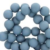 Blauw Acryl kralen mat Cendre blue 8mm - 50 stuks