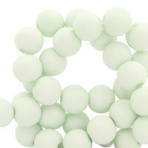 Groen Acryl kralen mat Fog green 8mm - 50 stuks