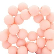 Roze Acryl kralen mat Hermosa pink 8mm - 50 stuks