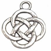 Zilver Bedel Lucky knot Zilver 19x16mm - 5 stuks