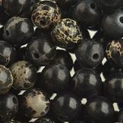Zwart Edelsteen rond Regaliet zwart 10mm