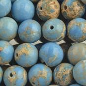 Blauw Edelsteen rond Regaliet licht blauw 10mm