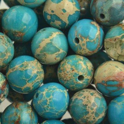 Turquoise Edelsteen rond Regaliet turquoise 10mm