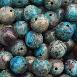 Turquoise Edelsteen rond Ocean Agaat 10mm