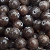 Bruin Edelsteen rond smoked brown Jade 10mm
