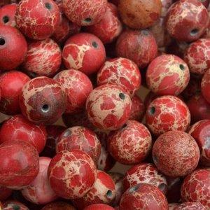 Turquoise Edelsteen rond Regaliet rood 10mm