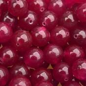 Roze Edelsteen rond Jade roze rood 10mm