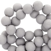 Grijs Acryl kralen mat Timeless grey 6mm - 50 stuks