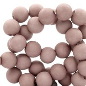 Bruin Acryl kralen mat Desert taupe 6mm - 50 stuks