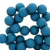 Blauw Acryl kralen mat Deep marine blue 6mm - 50 stuks