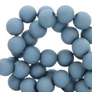 Blauw Acryl kralen mat Cendre blue 6mm - 50 stuks