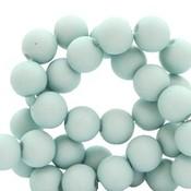 Blauw Acryl kralen mat Aqua mist blue 6mm - 50 stuks