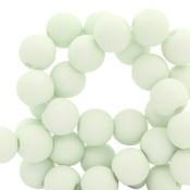 Groen Acryl kralen mat Fog green 6mm - 50 stuks