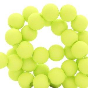 Groen Acryl kralen mat Lime green 6mm - 50 stuks