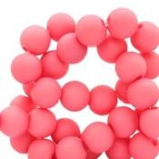 Roze Acryl kralen Deep pink 6mm - 50 stuks