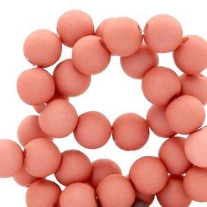 Roze Acryl kralen Old pink 6mm - 50 stuks