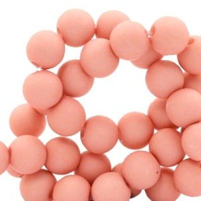 Roze Acryl kralen Shell pink 6mm - 50 stuks