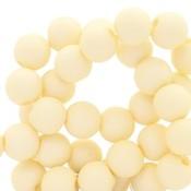 Geel Acryl kralen Vanilla yellow 6mm - 50 stuks