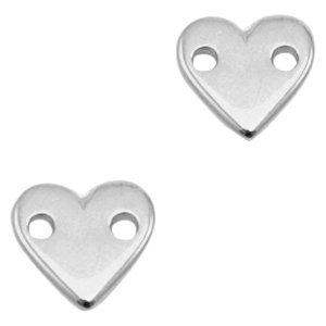 Zilver Tussenstuk Hart Zilver DQ 11x10mm
