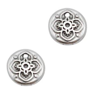 Zilver Bedel muntje mandala Zilver DQ 9mm