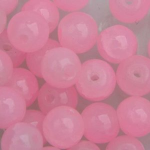 Roze Crackle glaskralen pink 4mm - 50 stuks